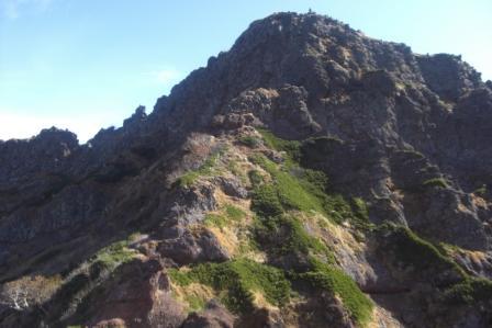 ⑦小同心ノ頭から横岳山頂