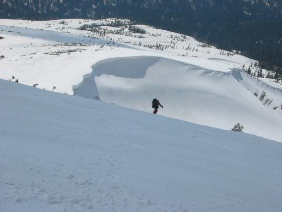 1北ノ俣岳への登り