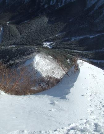 ④第2岩稜取り付きからJP方向