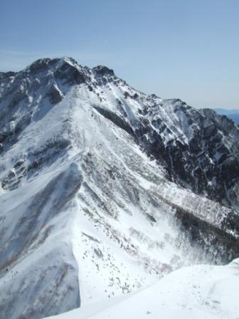 ⑨中岳への下降