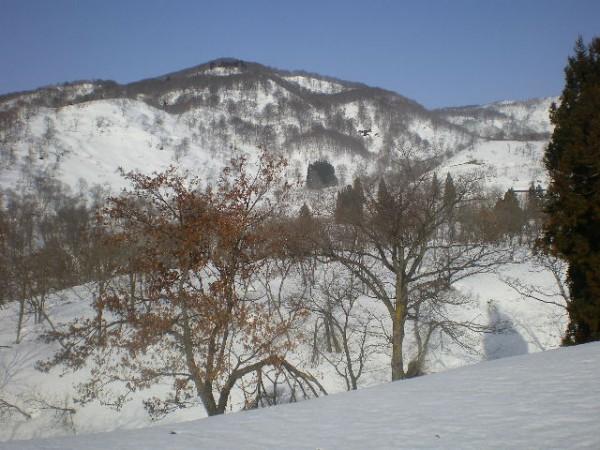 田茂木池付近からの鍋倉山