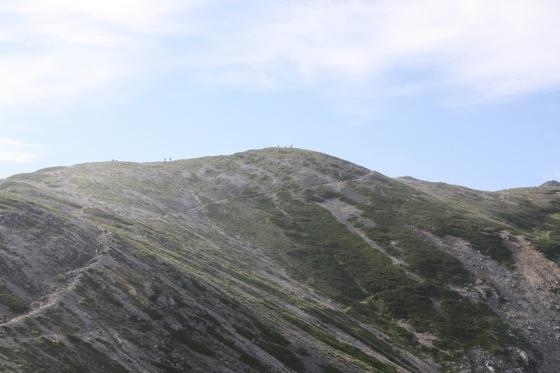 真砂岳への斜面