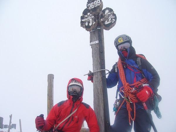 14 赤岳 山頂 記念撮影