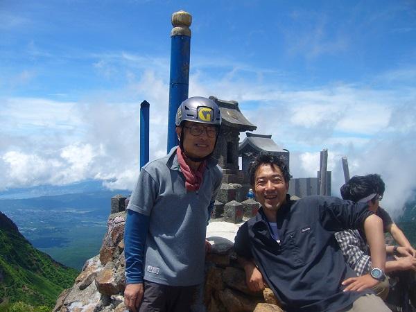43 赤岳 山頂 記念撮影