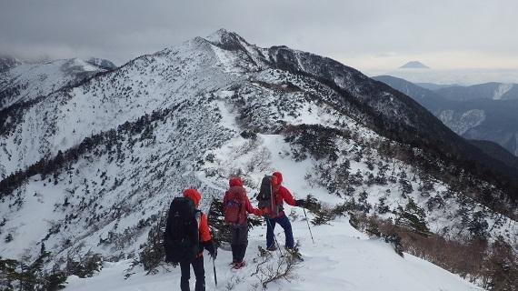 茶臼岳を臨む