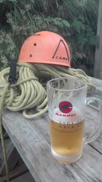 9.鉱泉でビール